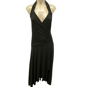 MICHAEL KORS Ruched Italy Maxi Halter Dress Size 6